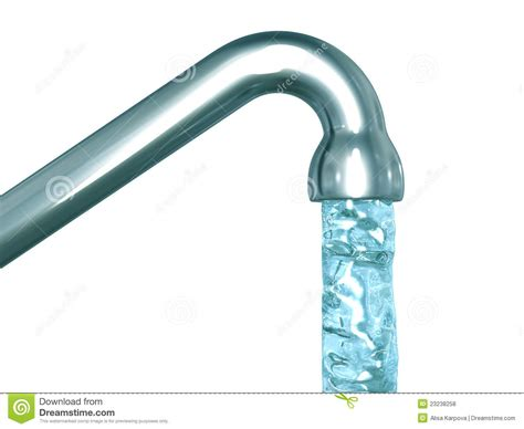 blue crystal water flow out of a tap royalty free stock photos image 23238258