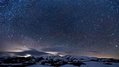 4k Stars Sky Mountains Snowy Wallpapers Snow