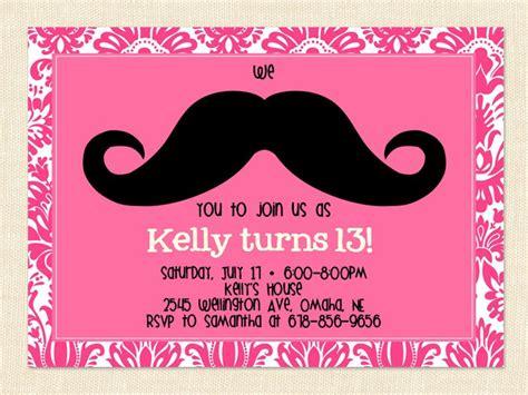 Birthday Invitations Tween Party