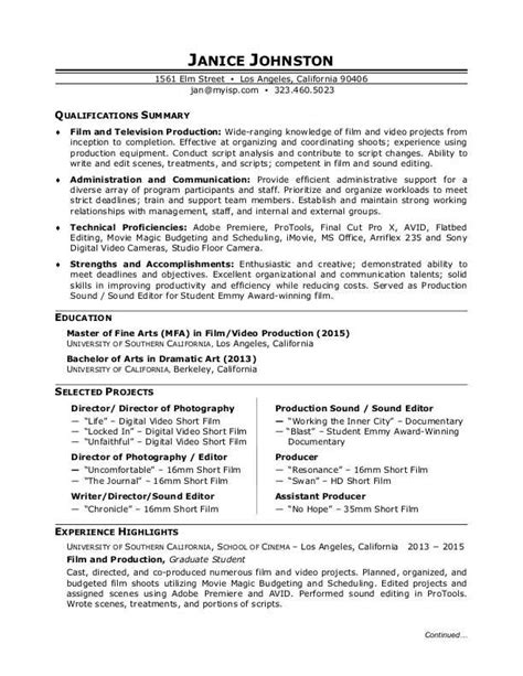 Resume Creation Form by Production Resume Sle