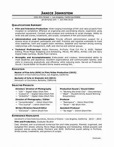 film production resume sample monstercom With film production resume