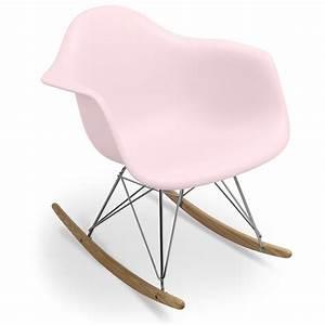 Fauteuil Charles Eames : fauteuil bascule rose pastel charles eames ~ Melissatoandfro.com Idées de Décoration