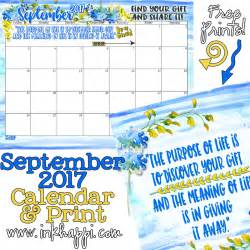 Inkhappi September 2017 Calendar