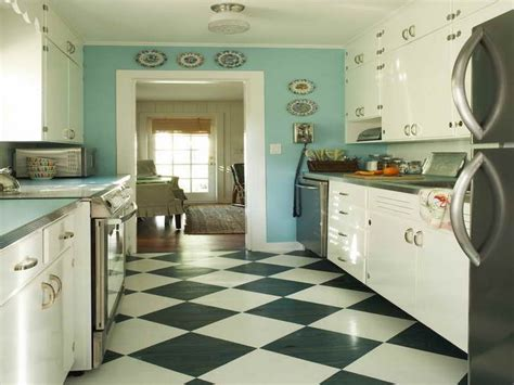 kitchens with black and white floors blue and white kitchen tile floor morespoons ffa08ea18d65 9632