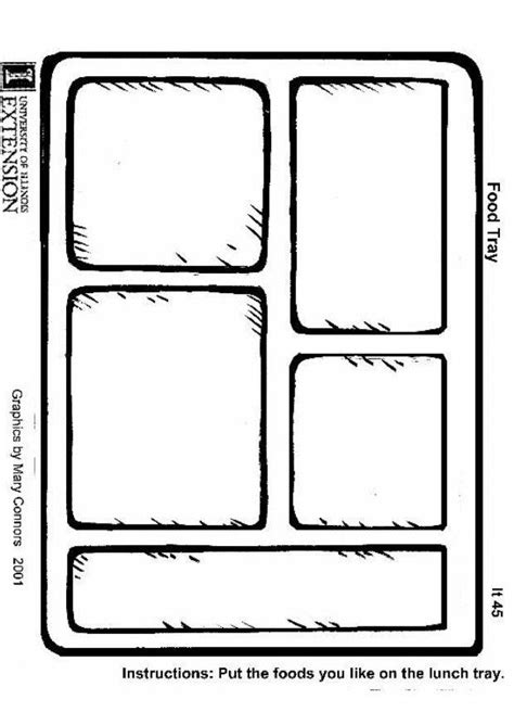 coloring page food tray  printable coloring pages img