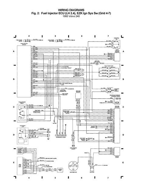 volvo 240 1993 wiring diagrams fuel injector ecu lh