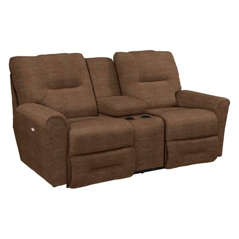 Reclining Loveseat With Middle Console by La Z Boy 702 Easton La Z Time Reclining Loveseat With