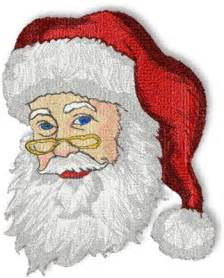 Free Santa Machine Embroidery Designs