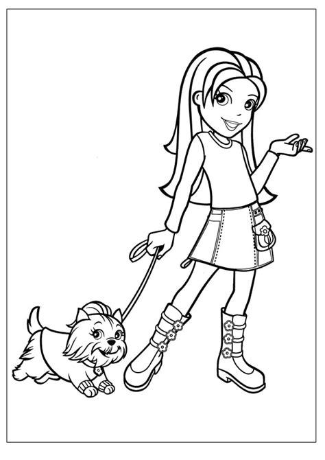 printable polly pocket coloring pages  kids