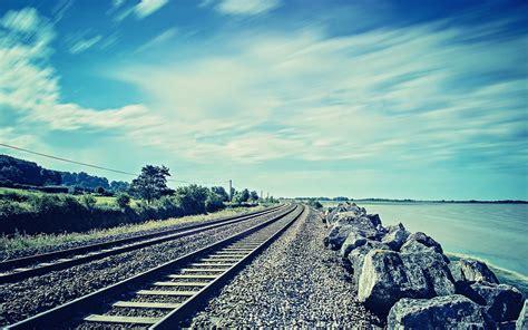 photography nature railway rock coast sea water