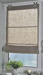 Fenstergestaltung Ohne Gardinen : raffrollo senrollo metis weiss 100 leinen 45 140 k che haushalt gardinen ~ Eleganceandgraceweddings.com Haus und Dekorationen
