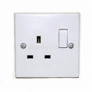 British Plug Socket Isolated On White Stock Image