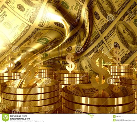gold  dollar money currency icon stock  image