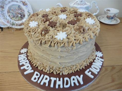 Place the butter, caster sugar, eggs, flour, baking powder, coffee and milk into a large bowl, or the bowl of a stand. Coffee and Walnut cake made for a friends Birthday | Coffee and walnut cake, How to make cake, Cake