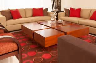 red and brown living room design home conceptor