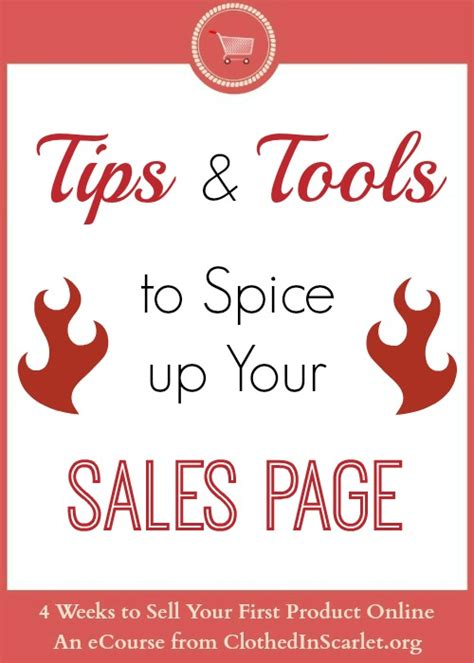 Tips And Tools To Spice Up Your Sales Page  Clothed In
