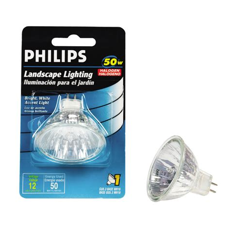 shop philips 50 watt bright white mr16 halogen light