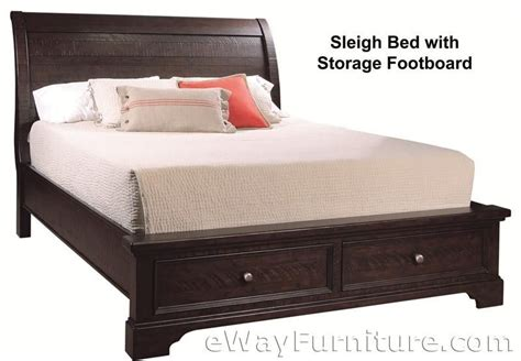 new solid wood king storage sleigh bed mahogany bedroom