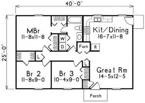 1000 sq ft floor plans ranch style house plan 3 beds 1 baths 1000 sq ft plan 57 221