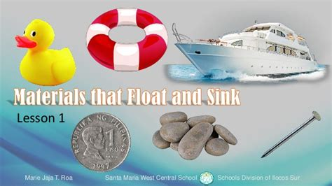 materials sink or float materials that float and sink