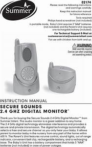 Summer Infant Baby Monitor 2174 User Guide