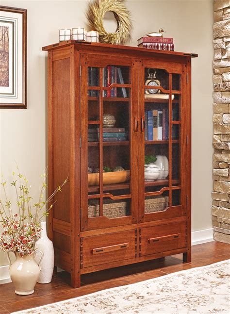 greene greene style bookcase woodworking project woodsmith plans