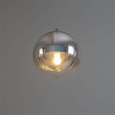 hanglamp design bol chroomtransparant glas globe