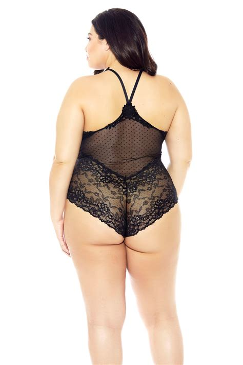 black lace halterneck teddy