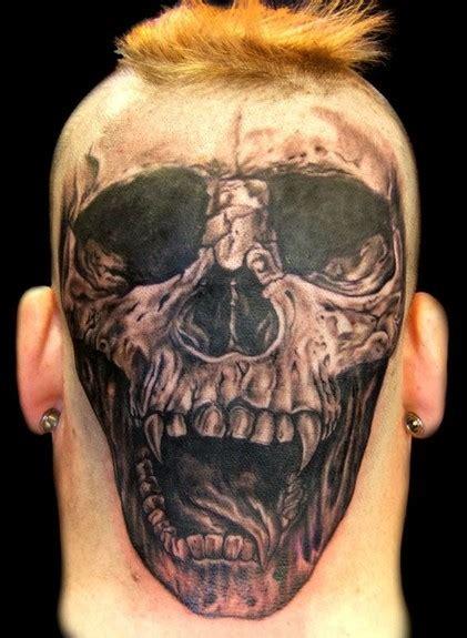 crazy head skull tattoos popular tattoo designs
