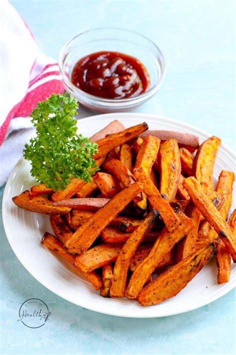potato fries sweet air fryer seasoning healthy cutting tips plate recipes vegetables than apinchofhealthy better affiliate needed run test got