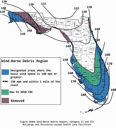 Wind Impact Florida Category Code Maps Map