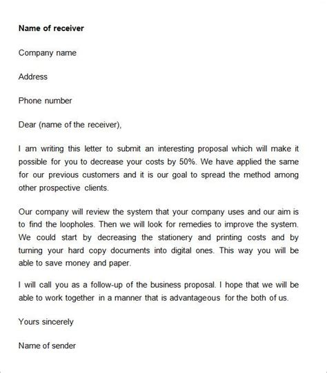 business proposal letter    documents