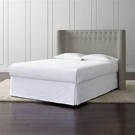 Chesterfield Upholstered White Headboard and Storage