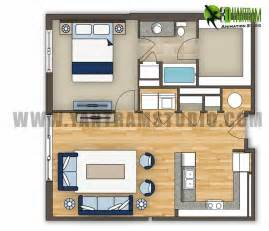 1 bedroom floor plan 2d floor plan residential idea yantram architectural