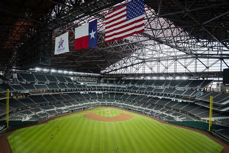 Photos: Rangers open Summer Camp at empty Globe Life Field