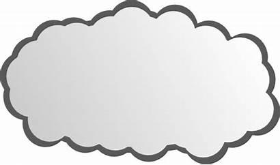 Cloud Clip Simple Vector Clipart Shape Svg