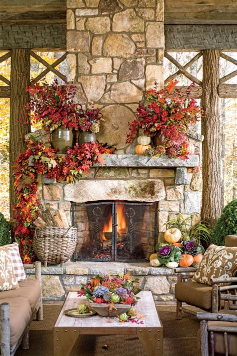 beautiful outdoor room ideas  fall