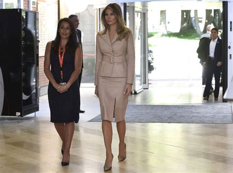 Melania Trump First Lady In Nude Visiting Brussels Hospital Style Life Style Express Co Uk