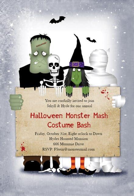 halloween party invitation templates   island