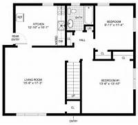 Simple House Blueprints With Measurements And Simple Floor Plans On Floor Wit