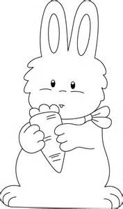 Carrot and Bunny Rabbit Coloring Pages