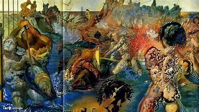 Dali Salvador Paintings Wallpapers Fishing Tuna Painting