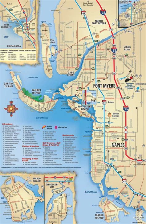 southwest florida map attractions