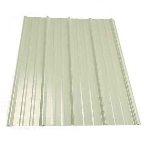 Metal Sales 12 Ft Classic Rib Steel Roof Panel In White