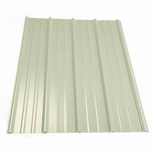 metal sales 8 ft classic rib steel roof panel in white With 20 ft metal roof panels
