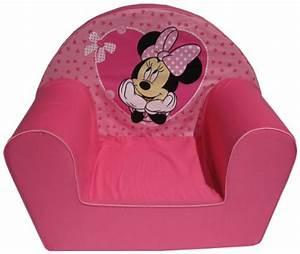 Fauteuil Enfant Fille : disney fauteuil minnie avec petits coeurs ~ Teatrodelosmanantiales.com Idées de Décoration