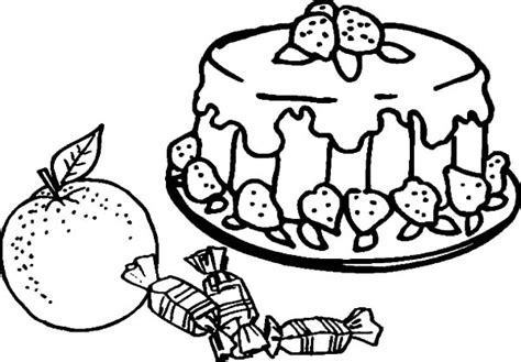 Fruitcake Coloring Pages