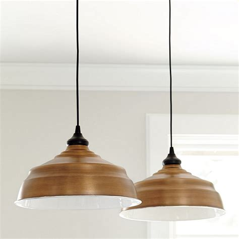 large industrial copper shade pendant adapter ballard