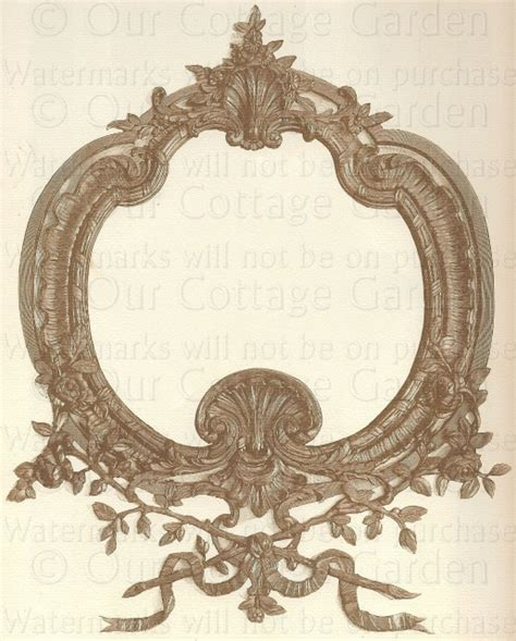 millinery ad fancy classic cartouche  cottage
