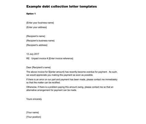 debt collection letter debt letter template 10 sles for word pdf